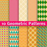 Geometric Patterns (tiling). Set Of Vector Royalty Free Stock Images