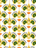 Geometric patterns yellow and green Stock Image