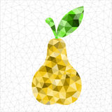 Geometric pear. An abstract geometric yellow pear Stock Illustration