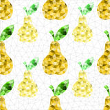 Geometric pear pattern. Abstract geometric pear. Seamless endless texture pattern background Vector Illustration