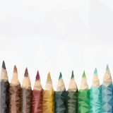 Geometric pencils  vector Royalty Free Stock Photos