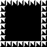 Geometric picture, photo frame in squarish format. royalty free illustration
