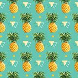 Geometric Pineapple Background royalty free illustration