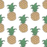 Geometric pineapple seamless pattern Stock Photography
