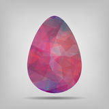 Geometric pink Easter egg sign icon Stock Photos