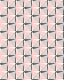Geometric pink and grey mosaic vector seamless pattern stock illustration