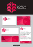 Geometric pink logo icon design with business. Cards, banners and  documentation for business. Vector illustration Royalty Free Stock Photography