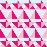 Geometric pink seamless pattern - flat design style Royalty Free Stock Image