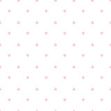 Geometric pink seamless pattern with triangle Stock Photo