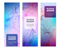 Geometric Plexus Shapes Vertical Banners Royalty Free Stock Photos
