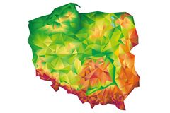 Geometric Poland Map Concept Royalty Free Stock Photography