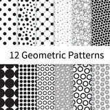 Geometric Polka Dot seamless patterns Stock Photo