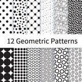 Geometric Polka Dot seamless patterns Stock Photo