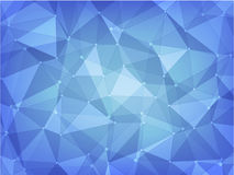 Geometric polygon abstract background of blue. Abstract background of dark and light blue polygon and poka dot style vector illustration