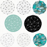Geometric polygon circles Stock Photo