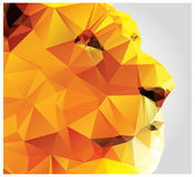 Geometric polygon lion head, triangle pattern Royalty Free Stock Image