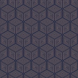 geometric polygon seamless pattern.Fashion graphic design.Vector illustration. Background design.Optical illusion 3D. Modern styli Royalty Free Stock Images
