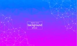 Geometric Polygonal background molecule and communication. Connected lines with dots. Minimalism chaotic illustration background. Concept of the science Royalty Free Stock Photo