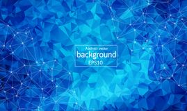 Geometric Polygonal background molecule and communication. Connected lines with dots. Minimalism chaotic illustration background. Concept of the science Stock Photography