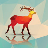 Geometric polygonal deer, pattern design Stock Photos