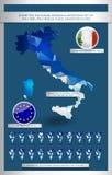 Geometric polygonal design illustrations set of Italy Royalty Free Stock Photography