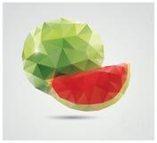 Geometric polygonal fruit, triangles, watermelon Stock Photography