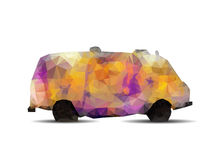 Geometric polygonal Graffiti van. Royalty Free Stock Image