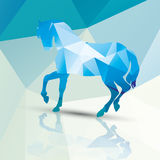 Geometric polygonal horse, pattern design Royalty Free Stock Images