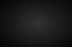 Geometric polygons background, abstract black metallic wallpaper Royalty Free Stock Image