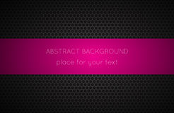 Geometric Polygons Background With Pink Place For Your Text Stock Photos