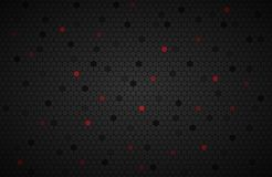 Geometric polygons background with red polygons. Abstract black metallic wallpaper, vector illustration Stock Photography