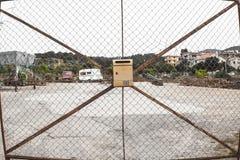 Geometric postbox fence Stock Photography