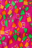 Geometric print fabric. Colorful geometric print fabric background Stock Image