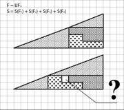 Geometric problem - test for intelligence Royalty Free Stock Photo