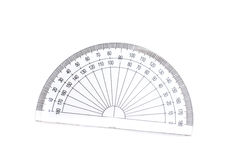 Geometric protractor Stock Images