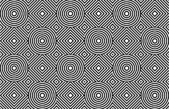 Geometric psychedelic seamless pattern Stock Images