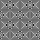 Geometric psychedelic seamless pattern Royalty Free Stock Images