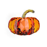 Geometric pumpkin rendering Royalty Free Stock Photos