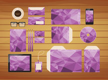 Geometric purple brand identity business Royalty Free Stock Photography