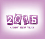 Geometric purple happy new year Stock Photography