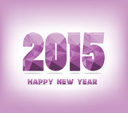Geometric purple happy new year Royalty Free Stock Photos
