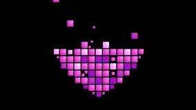 Geometric purple heart symbol animated background stock video footage