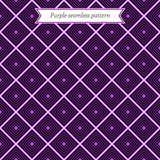 Geometric purple seamless pattern Stock Photography