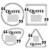 Geometric quote form Stock Photo