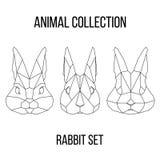 Geometric rabbit set Stock Images