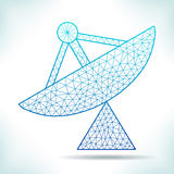 Geometric radar. Stock Photography
