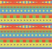 Geometric rainbow ethnic pattern Royalty Free Stock Images