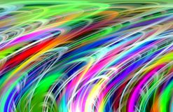 Rainbow colorful lines background. Waves like shapes, abstract background. Geometric rainbow playful lines, shapes, forms, vivid colors, abstract background and Vector Illustration