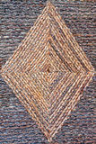 Geometric rattan. Close up shot of geometric rattan texture Royalty Free Stock Images