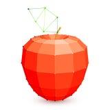 Geometric Red Apple Stock Image